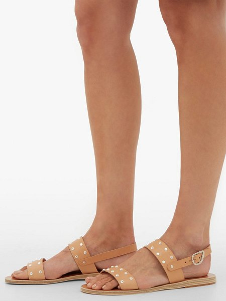 Ancient Greek Sandals dinami leather slingback sandals in tan