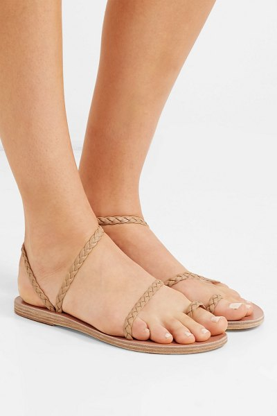 Ancient Greek Sandals eleftheria braided leather sandals in neutral