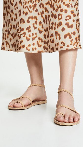 Ancient Greek Sandals eleftheria sandals in natural - Braided straps bring refined elegance to these flat,...