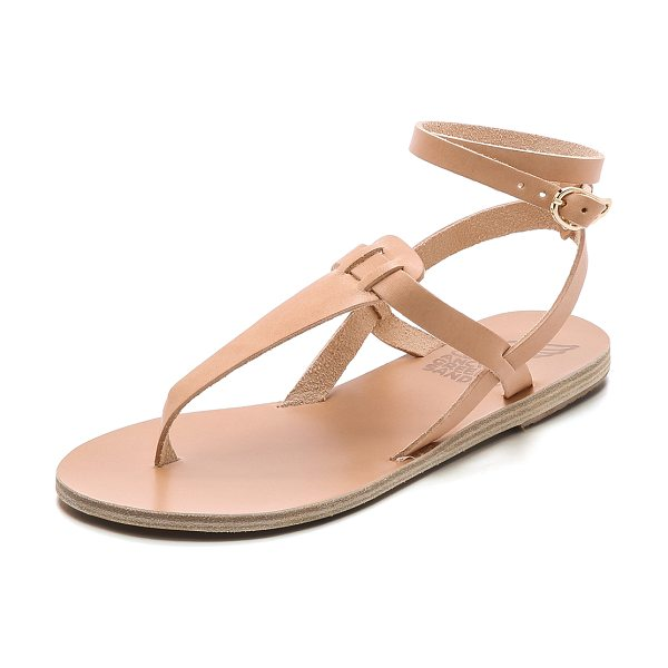 Ancient Greek Sandals Estia thong sandals in natural - Elegant Ancient Greek Sandals in a T strap silhouette....