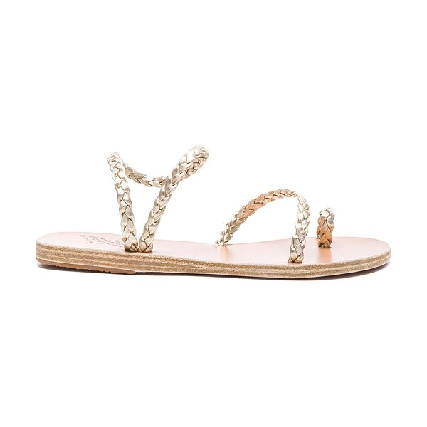 Ancient Greek Sandals Leather Eleftheria Sandals in metallics,neutrals - Born with strong roots in Ancient Greek myth and...