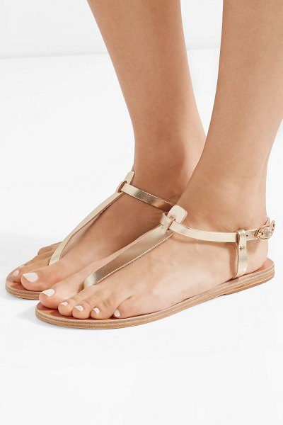 Ancient Greek Sandals lito metallic leather sandals in gold