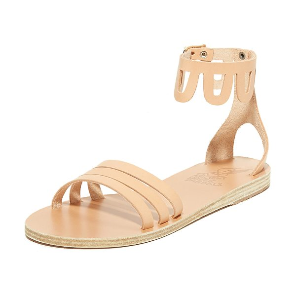 Ancient Greek Sandals omorfi sandals in natural - Flat Ancient Greek Sandals styled with a scalloped,...