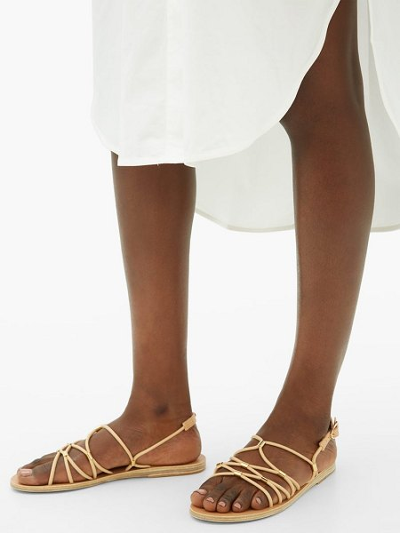 Ancient Greek Sandals pasifai leather sandals in tan gold