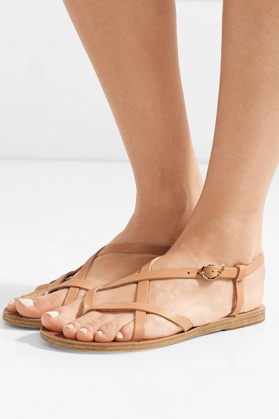 Ancient Greek Sandals semele leather sandals in beige