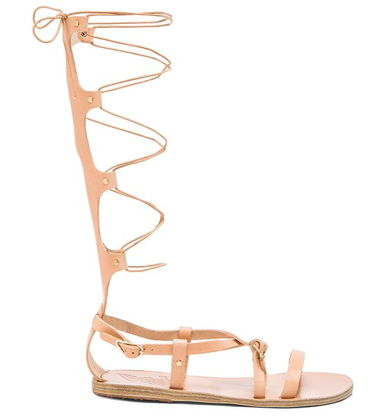 Ancient Greek Sandals Sofia High Leather Sandals in neutrals - Born with strong roots in Ancient Greek myth and...