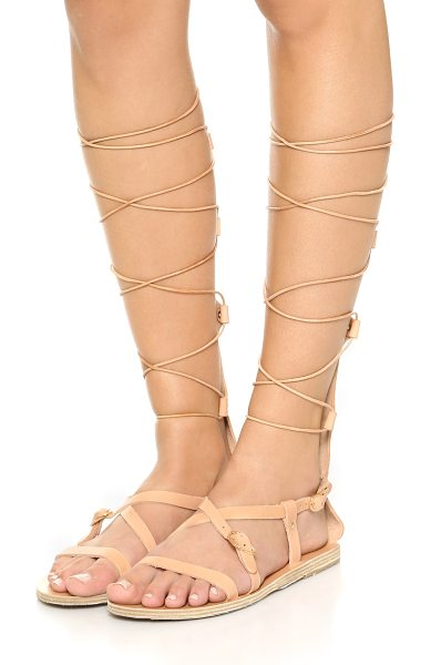Ancient Greek Sandals Sofia high sandals in natural
