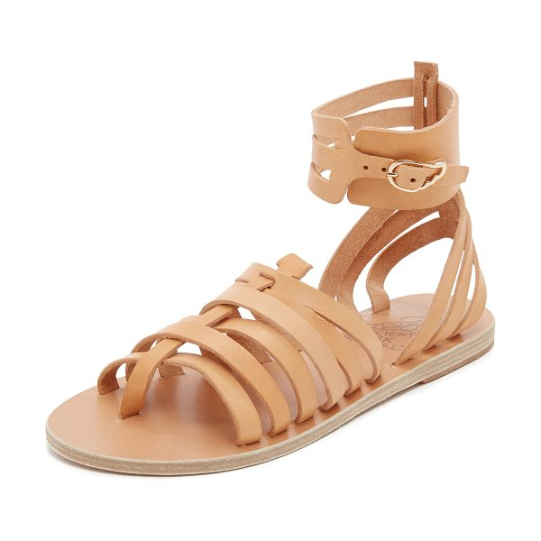 Ancient Greek Sandals Zaira gladiator sandals in natural - Slim straps of smooth leather compose these ankle high...