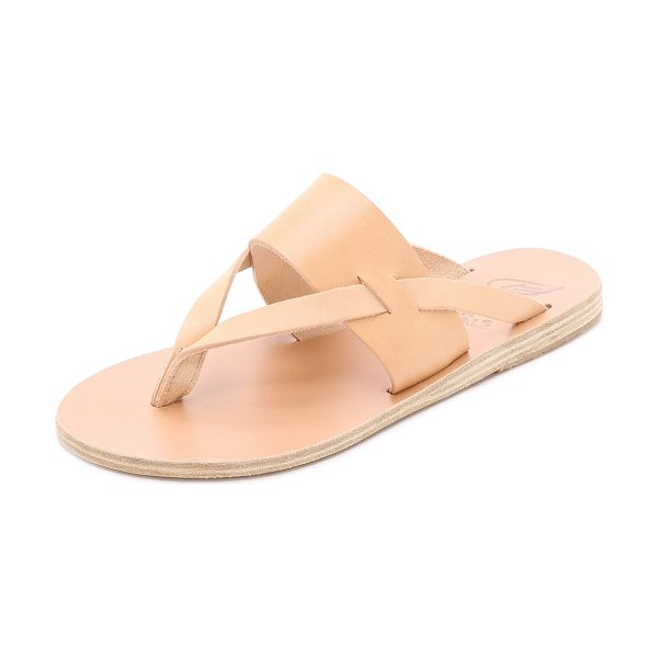 Ancient Greek Sandals Zenobia sandals in natural