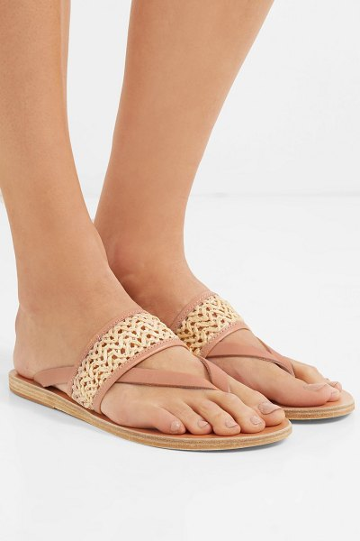 1811b997b1f Ancient Greek Sandals zenobia woven raffia and leather sandals in neutral -  EXCLUSIVE AT NET-