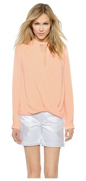 And B Signature twist front blouse in peach - A bubble hem creates volume on this signature And B...