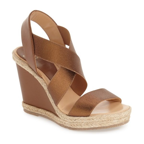 Andre Assous cassandra wedge sandal in bronze
