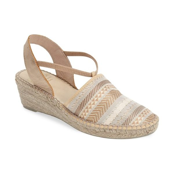 ANDRE ASSOUS helena espadrille wedge sandal - A mix of shimmering metallic leather and a geometric...