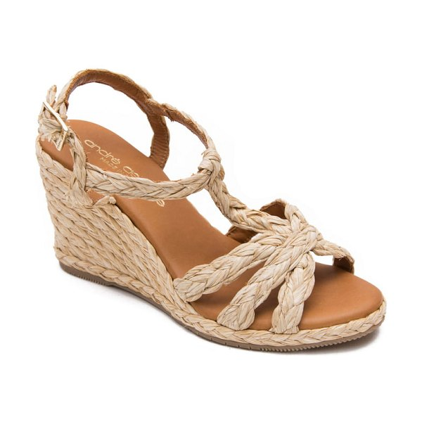 Andre Assous madina espadrille wedge sandal in beige