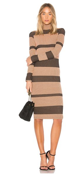 ANIMALE Rib Sweater Dress in brown - 55% poly 37.5% viscose 7.5% spandex. Hand wash cold....