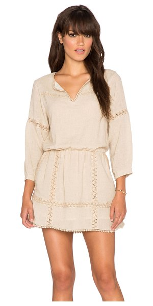 ANINE BING Dress with lace details - 50% cotton 50% linen. Hand wash cold. Fully lined....