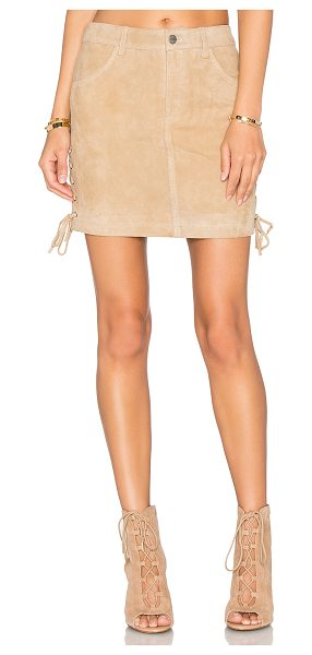 Anine Bing Lace Up Skirt in beige - Self: 100% goat suedeLining: 100% viscose. Professional...