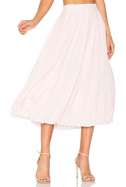 Anine Bing Pleated Midi Skirt in pink