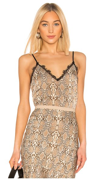 Anine Bing silk cami in python - ANINE BING Silk Cami in Brown. - size XS (also in S,M,L)...