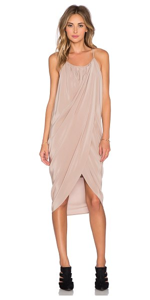 Anine Bing Wrap Dress in blush - 100% silk. Dry clean only. Lined. Front wrap detail....