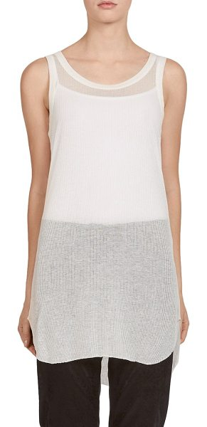 Ann Demeulemeester ribbed jersey tank in cream - Ribbed cotton jersey fabric. Roundneck. Sleeveless....