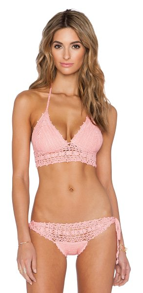 ANNA KOSTUROVA Daring lace bikini top - Shell: 100% cottonLining: 100% poly. Hand wash cold....