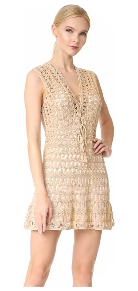 Anna Kosturova jennifer dress in light taupe - Soft crochet composes this casual Anna Kosturova...