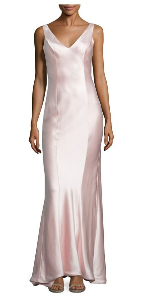 ANNA MAIER rita satin gown in blush - A draped back highlights this luxurious satin...
