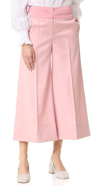 Anna October cropped wide leg trousers in pink - These cropped, wide-leg Anna October trousers have a...