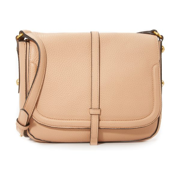 Annabel Ingall Allisyn saddle bag in almond - A modern Annabel Ingall saddle bag in rich pebbled...