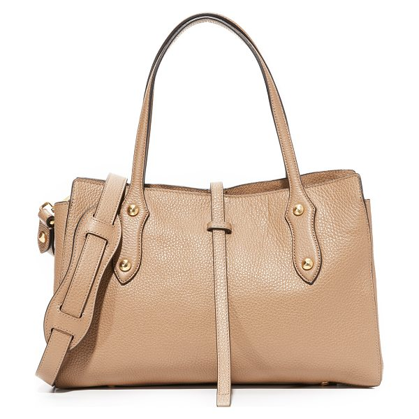 Annabel Ingall billy satchel in sahara - Faceted studs accent this pebbled leather Annabel Ingall...