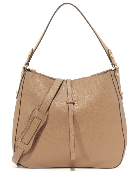 Annabel Ingall Brooke Hobo Bag in sahara - Faceted studs accent this pebbled leather Annabel Ingall...