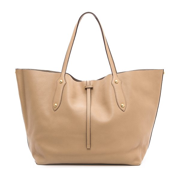 ANNABEL INGALL Large isabella tote in honey - Faceted gold tone studs and feet lend subtle shine to a...