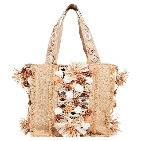 Antik Batik charlie tote in cream