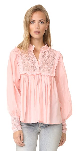 Antik Batik gaia blouse in pink - This voluminous Antik Batik blouse has a victorian feel...