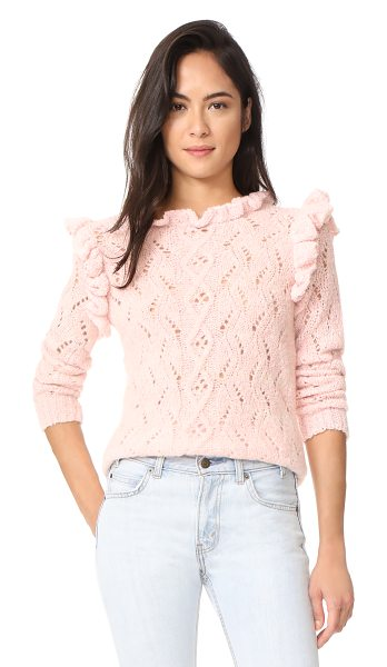 Antik Batik melody ruffle sweater in light pink - Flounced ruffles complement the feminine feel of this...