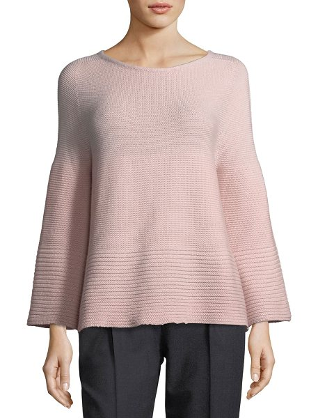 Antonelli Ballet-Neck Ribbed Sweater in pink - Antonelli sweater in rib-knit. Ballet neckline. Long...