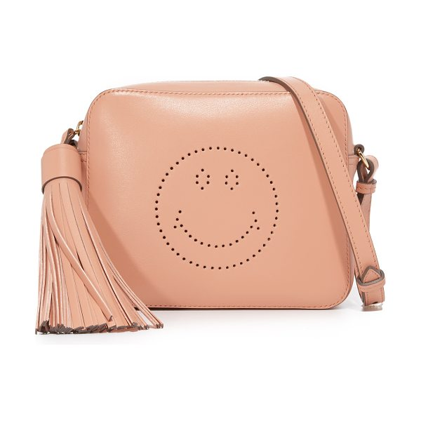 Anya Hindmarch smiley cross body bag in powder pink