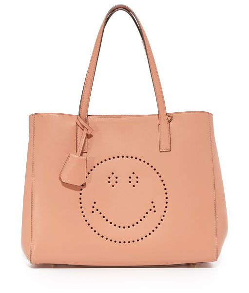 Anya Hindmarch smiley ebury shopper tote in powder pink - This roomy Anya Hindmarch tote gains charm from a...