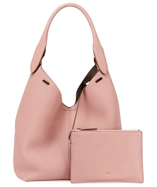 Anya Hindmarch The Bucket Small Circle Hobo Bag in blush