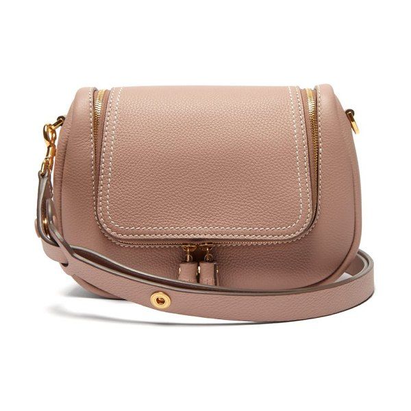 Anya Hindmarch vere small leather shoulder bag in pink multi - Anya Hindmarch - Anya Hindmarch's dusty-pink Vere...