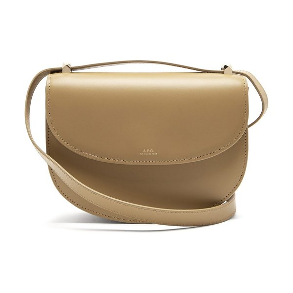 A.P.C. genève leather cross body bag in khaki - A.P.C. - A.P.C.'s pared-back viewpoint informs this...
