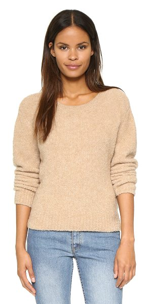 A.P.C. Boucle sweater in beige - A plush A.P.C. sweater with a tapered fit. Ribbed edges...
