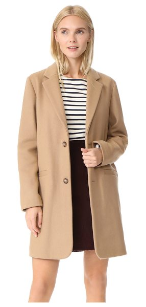 A.P.C. carver coat in beige - An understated overcoat from A.P.C, crafted in a soft...