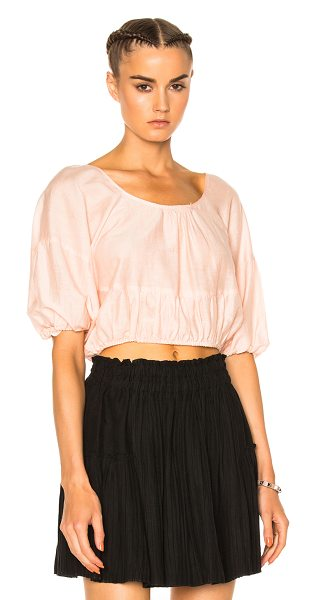 Apiece Apart Apiece Apart Aures Balloon Top in pink - 100% cotton.  Made in India.  Dry clean only.  Elastic...