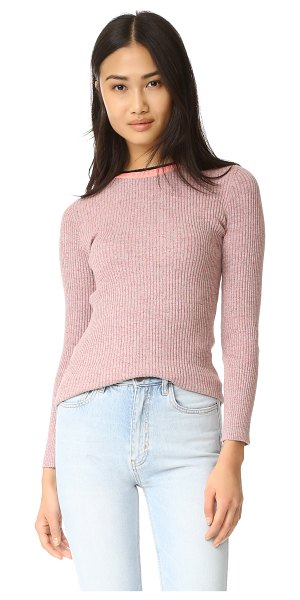 APIECE APART des colores second skin sweater - A mélange ribbed-knit Apiece Apart sweater in a slim...