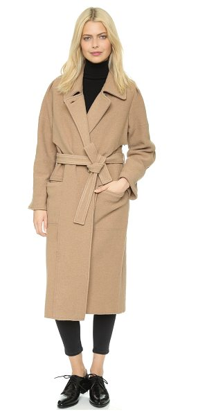 Apiece Apart Iliana coat in camel - A warm Apiece Apart trench coat with draped overlays in...