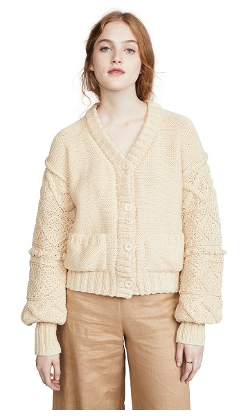 Apiece Apart jacinta cardigan in cream