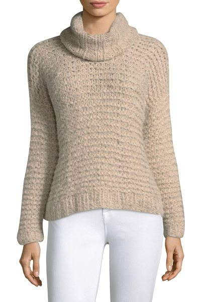 Apiece Apart nepenthe cropped turtleneck sweater in wheat - Classic sweater in a knitted pattern. Turtleneck. Long...