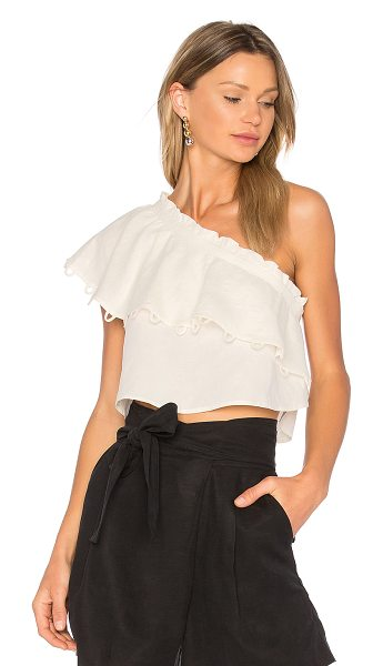 Apiece Apart Zahar One Sleeve Top in cream - One shouldered and all parts femme: APIECE APART's Zahar...